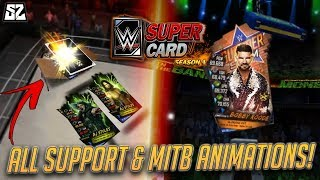 ALL SEASON 4 SUPPORT & MONEY IN THE BANK ANIMATIONS! | WWE SuperCard S4