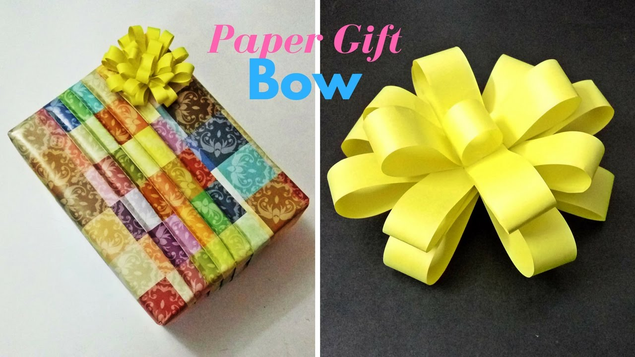 How To Make Paper Gift Bow