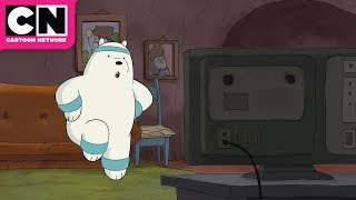 We Bare Bears | Ice Bear's Workout Video | Cartoon Network