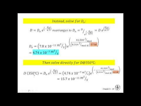 Diffusion -  Coefficients and Non Steady State