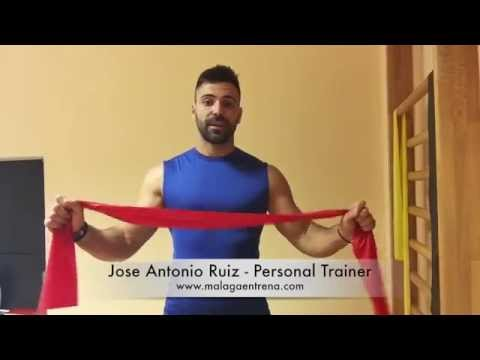 Define tus HOMBROS con este entrenamiento con bandas de resistencia (malaga entrena)