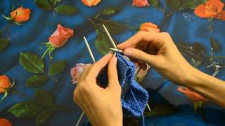 Вязание полой резинки по кругу