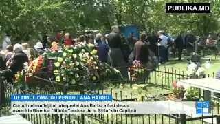 LACRIMI ŞI DURERE în Moldova. Regretata Ana Barbu este petrecută pe ultimul drum