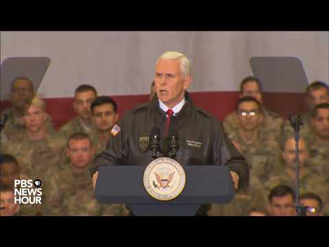 WATCH: Vice President Pence speaks during surprise visit to troops in Afghanistan