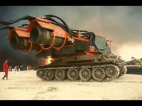 How Jet Engines on Tanks Put out Oil Fires