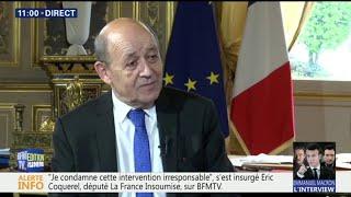 """Frappes en Syrie: """"les objectifs fixés ont été atteints"""" assure Jean-Yves Le Drian"""