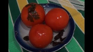 Квашеные помидоры в ведре (как из бочки).