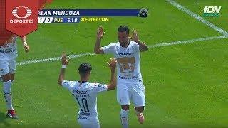 Gol de Alan Mendoza | Pumas 1 -0 Puebla | Apertura 2018 - Jornada 11 | Televisa Deportes