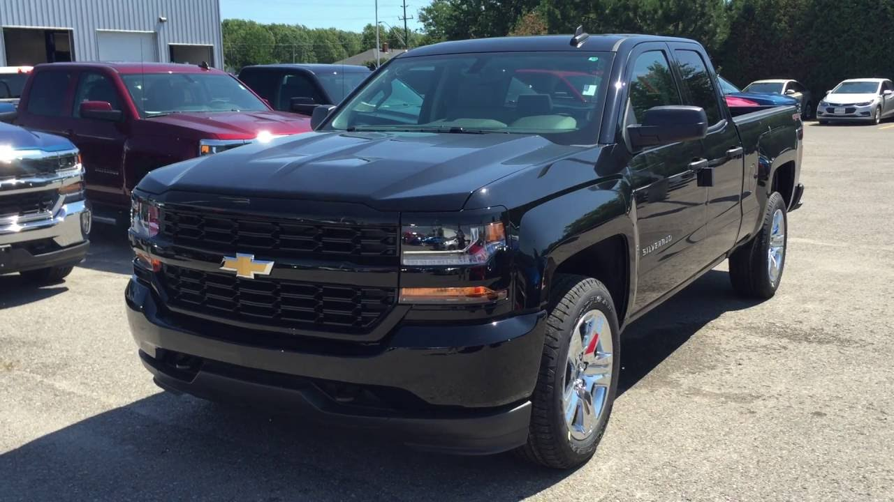 2016 Chevrolet Silverado 1500 4wd Double Cab Custom Black Roy Nichols Motors Courtice On