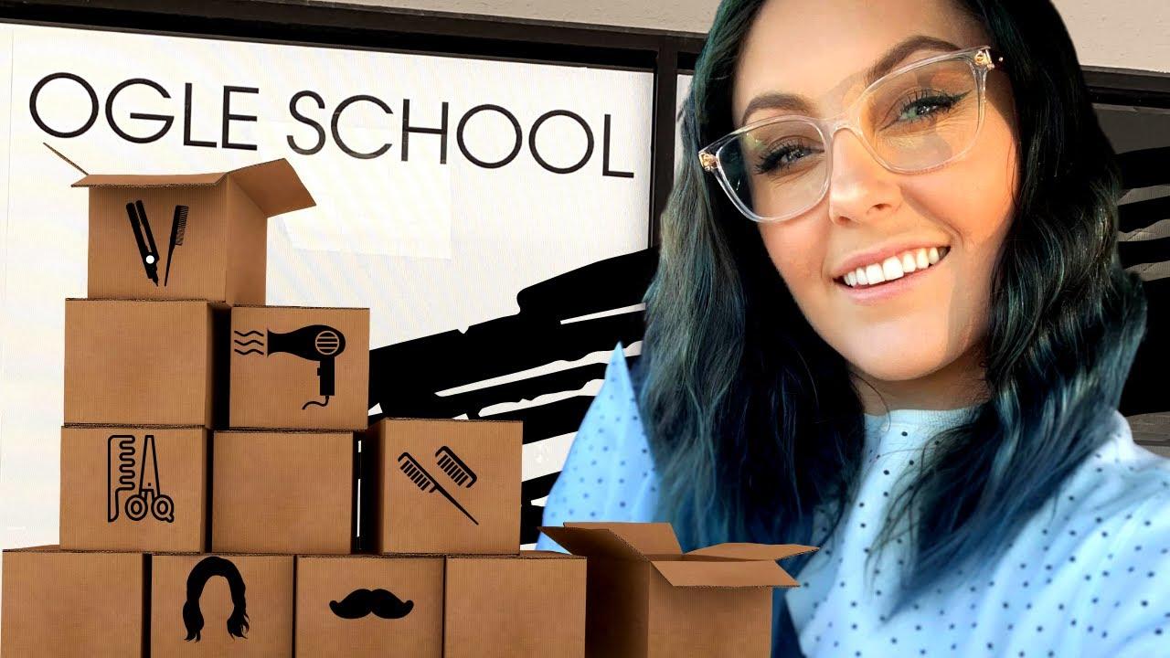 first week of beauty school | #ogleschool - YouTube