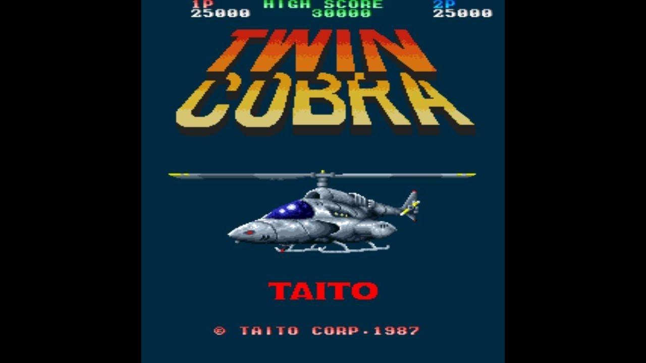 Twin Cobra Area 1 1987 Taito Mame Retro Arcade Games Youtube
