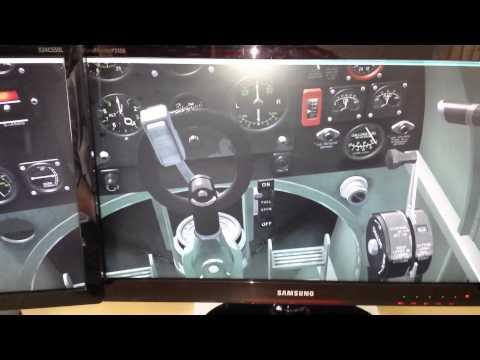 Compare FSX Spitfire and Spitsim Flight Controls Close up.