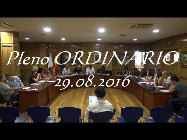 Pleno ordinario Agosto 2016