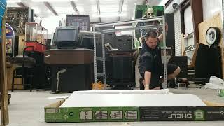 assembly of members mark commercial 6 shelf storage rack model 016055 1