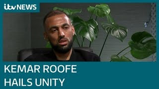 Kemar Roofe on putting rivalry aside to stand against racism and social media's role | ITV News
