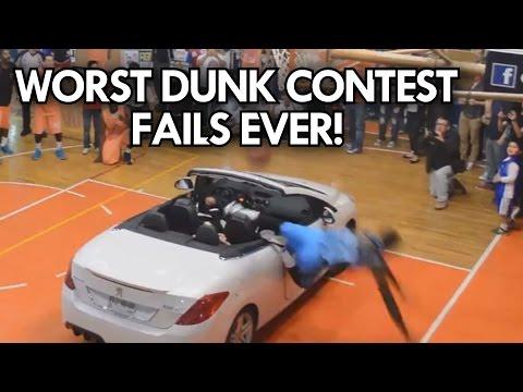 WORST DUNK CONTEST FAILS EVER! TOP 6 WORST DUNKS!