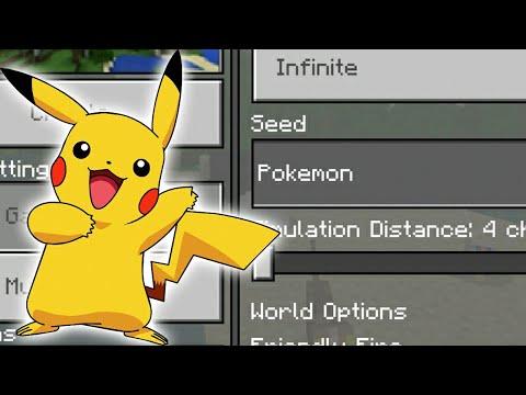 Pokemon In Minecraft! (Minecraft PE Pokemon Seed)