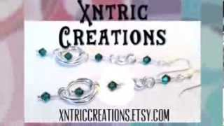 Emerald Green Silver Silver Twin Ring Chainmaille Earrings