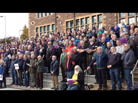 Final part of open air concert for massed choirs of National Mod 2016