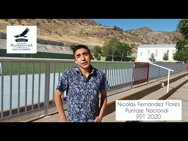 Desayuno con nuestro Puntaje Nacional 2020, Nicolás Fernández, Manquecura Valle lo Campino