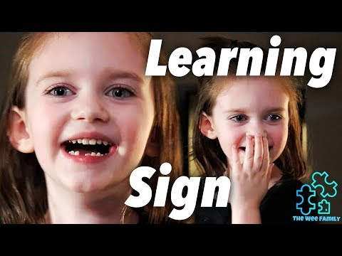 Autism | Nonverbal Girl Learning Sign Language