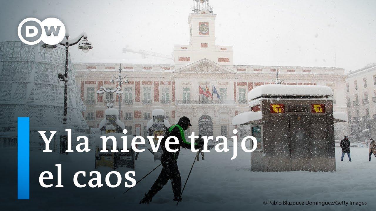 Download Madrid colapsa por una nevada histórica