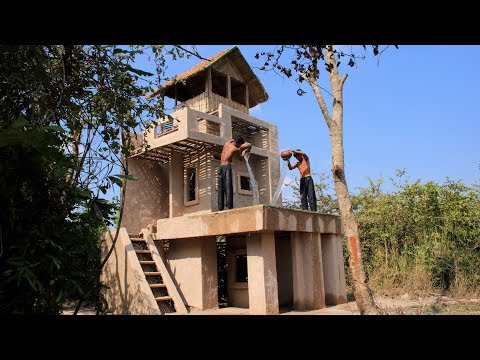 Build Amazing Three Story Mud Villa House