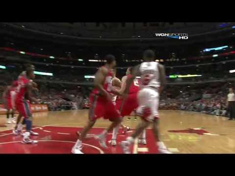 Brad Miller dunk against New Jersey Nets