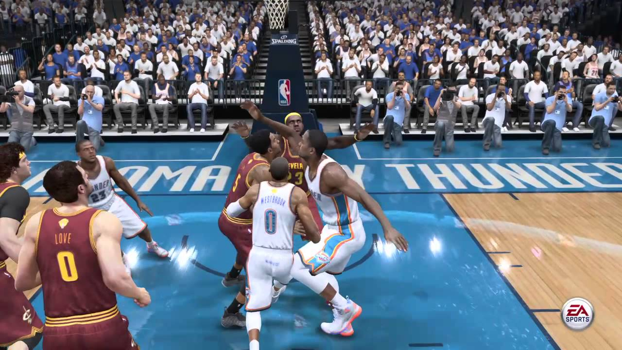 Nba Live 15 Russell Westbrook Dunks On Lebron James 2 Youtube
