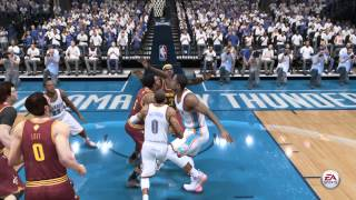 NBA LIVE 15 Russell Westbrook Dunks On Lebron James #2