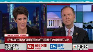 Rep. Schiff on MSNBC: If Manafort Helped Trump Obstruct Justice, Congress Will Expose It