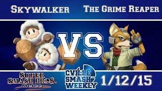 Cville Smash - Skywalker IC Vs. The Grime Reaper Fox SSBM Winners Bracket - Melee