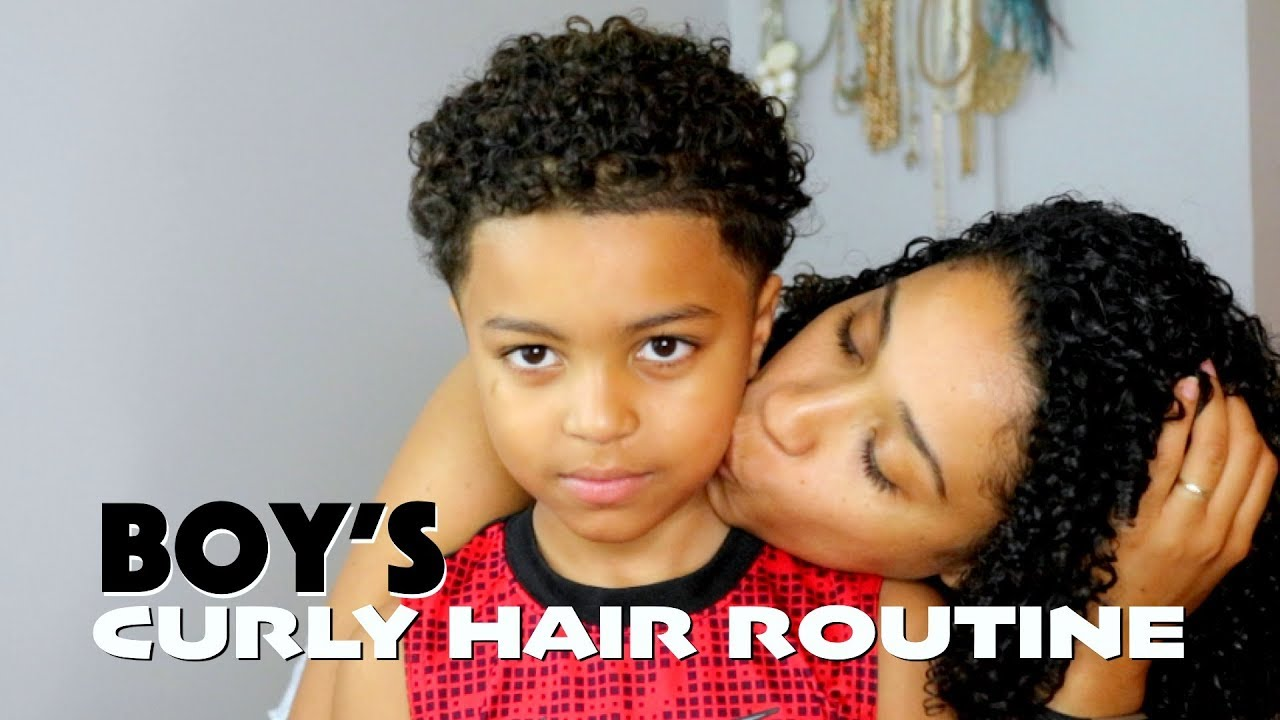 Boys Curly Hair Routine Youtube
