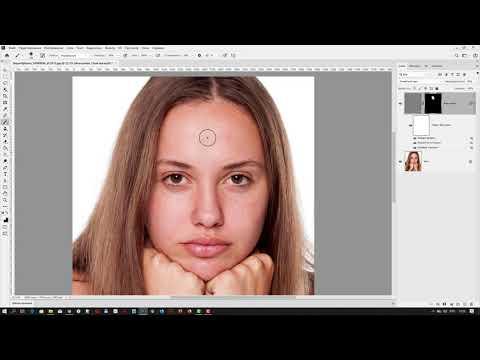 Как быстро разгладить кожу лица и сохранить текстуру в Adobe Photoshop 2020
