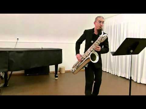 J. S. Bach - Cello Suite No. 2, Prelude - Baritone Saxophone