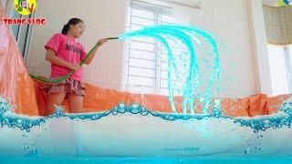 Làm Bể Bơi Trong Phòng Ngủ ❤ Xoa Dịu Cái Nóng Mùa Hè - Trang Vlog