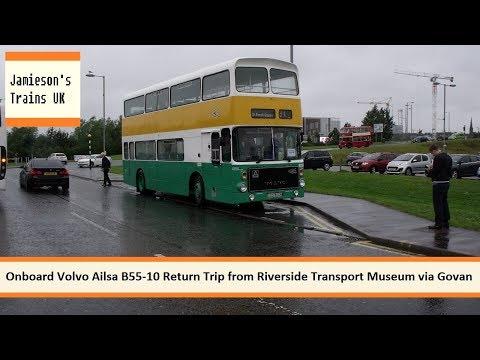 Onboard Volvo Ailsa B55-10 Return Trip from Riverside Transport Museum via Govan