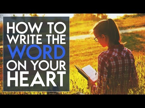 How to Write the Word on Your Heart - Swedenborg and Life