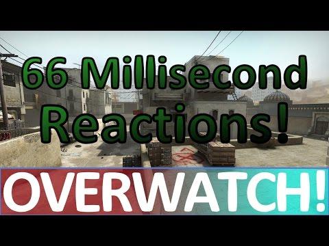 66 Millisecond Reactions! CS:GO OVERWATCH!