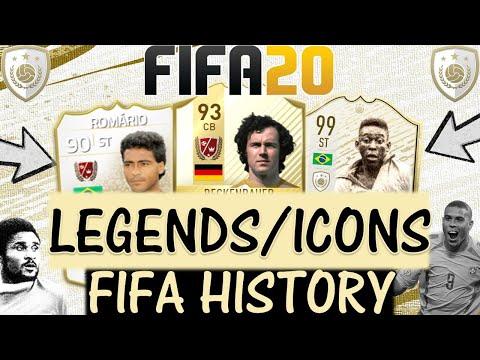 FIFA 20 ICONS/LEGENDS FIFA ULTIMATE TEAM HISTORY!! FT. BECKENBAUER, PELE, ROMARIO ETC...(FIFA 14-20)