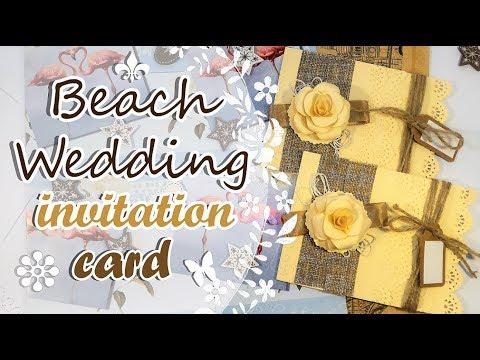 Vintage Invitation Card - Beach Theme
