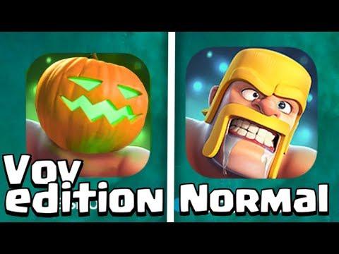 Clash of Clans Halloween Update Original vs Vov Edition Comparison