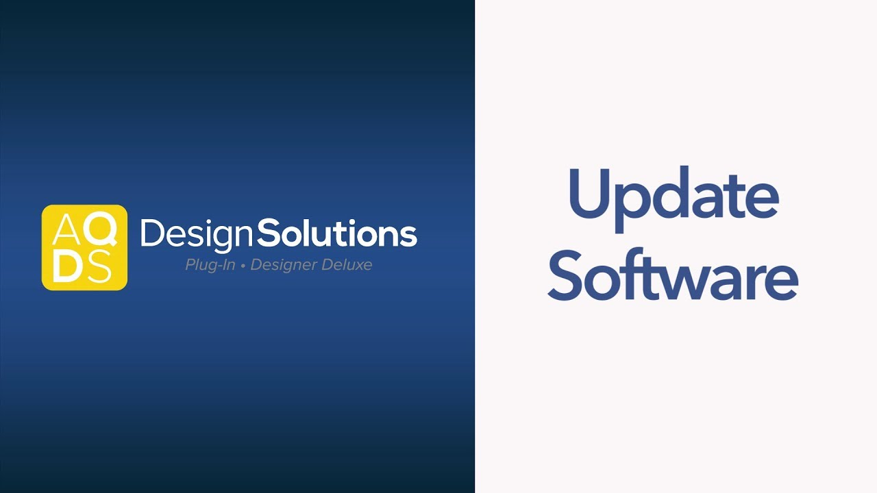 AQ Design Solutions – How to Update
