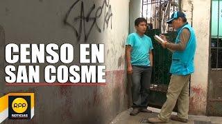 INEI realizó un censo en el cerro San Cosme