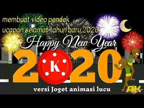 Membuat Video Ucapan Selamat Tahun Baru 2020 Story Wa Lucu Happy New Year Kine Master Youtube
