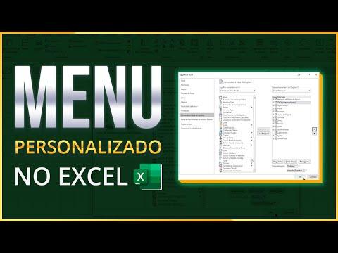 Como Criar um MENU (Guia) Personalizado no Excel -  ATUALIZADO