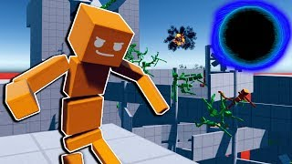 1000 Ragdolls VS Giant Black Hole Blender! - Fun With Ragdolls Gameplay