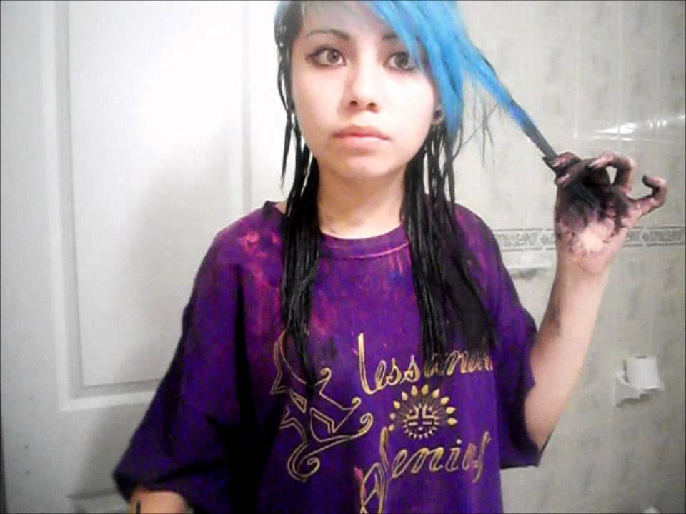 How I Dyed My Blue Hair To Black Youtube