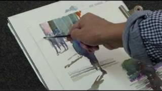 水彩動画塾 Lesson 8:風景の中の自然な人物