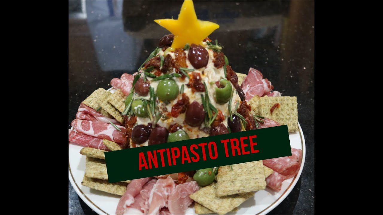 Antipasto Cheese Ball Tree